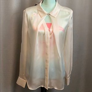 NWT Magaschoni Ivory silk blouse